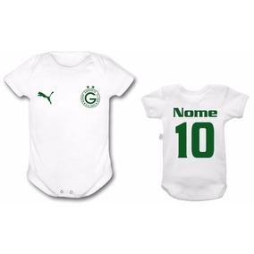 Body Goias O Time Futebol Bebê Personalizado Infantil