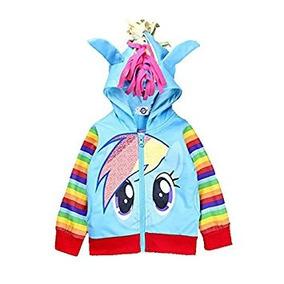 Disfraz Para Niña Mi Pequeño Pony Girls Rainbow Dash Con Ca