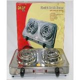 Cocina Electrica Daily/ 2 Hornillas Cromadas Ms003s