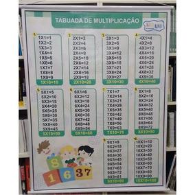 Painel Banner De Lona Tabuada Multiplicação - 1,05 X 0,90 Cm