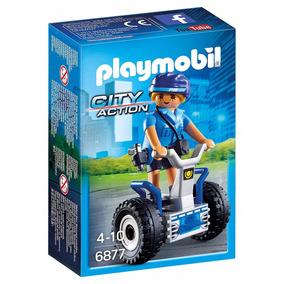 Playmobil Mujer Policia Con Segway 6877 Linea Policia Edu