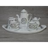 Miniatura Porcelana Aparelho Café Chá Lembranças Bodas Prata
