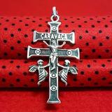 Em Prata De Lei 925 Maciçapingente Crucifixo Cruz Caravaca