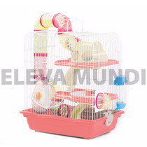 Gaiola Hamster Safari Labirinto Tubos Completa Comedouro