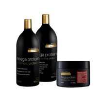 Kit Mega Protein (shampoo +cond.+máscara) - Maxiline