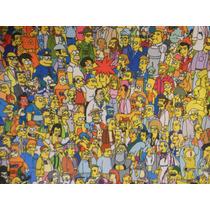 Mantel Individual Cuerina Estampado Ribeteado Simpsons Y +!