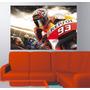Adesivo Parede Quarto Poster Corrida Moto Gp Repsol Curva