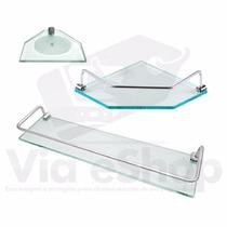 Prateleira Shampoo Saboneteira Cantoneira Banheiro Vidro T