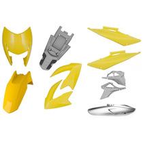 Carenagens Plasticos Protork - Honda Bros 150 2009 Amarelo