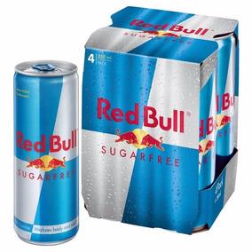Energético Red Bull Sugar Free 4 Unid. 250ml - Sem Açucar