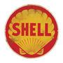 Carteles Antiguos De Chapa Gruesa 40cm Shell Gasoline Pe-096
