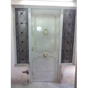 Oportunidad Puerta Con Ventanas, Vidrios, Rejas Incluidas