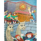 Cuadro Inti Raymi Del Pintor Peruano Del Niño Ladrón