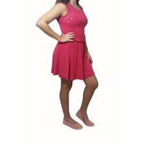 Vestido Feminino Viscose/renda Aplique Tachas Angerô Malhas