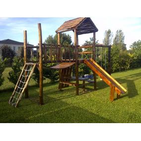 Mangrullo Infantil De Madera - Tobogán - Hamacas - Puente