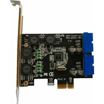 Placa Pcie Usb 3.0 Conector 19 Pinos Painel Frontal Gabinete
