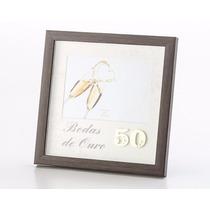 Porta Retrato Bodas De Ouro 13x18cm