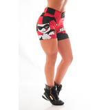 Bermuda Arlequina Harley Quinn Academia Musculação