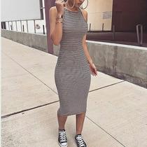 Vestido A Rayas Tela Importada Casual Y Sport Solo S M L