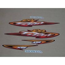 Kit Adesivos Honda Cg Titan 125 Kse 2003 Vermelha