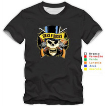 Camiseta Guns N Roses Blusas Moletom Bandas Rock Slash Axl
