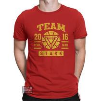 Camisa, Camiseta Homem De Ferro Iron Man Civil War Stark Mar