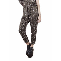 Pantalon Print Super Canchero Seda Mujer Basilotta