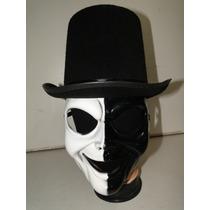 1 Cartola Mascara Preta Branca Halloween Horror Terror Jason