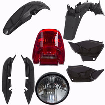 Kit Plastico Carenagem Com Farol Cg 125 Titan Fan 125 Preto