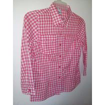 Camisas Vaqueras Para Dama Talla M Y Talla L Tela De Algon