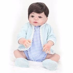 Boneca Bebê Reborn Menino + 2 Brindes
