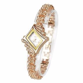 Reloj Lujo Ladies Quartz-rhombus-bracelete