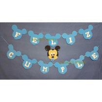 Guirnalda Mickey Bebé+ Feliz Cumple Goma Eva