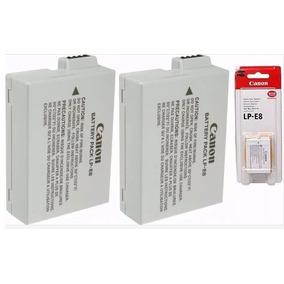 Kit 2 Baterias Lp-e8 Canon Original Lp E8 T3i T4i T5i X4 X5