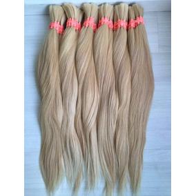 Cabelo Humano Natural Loiro Claro 60cm 50gramas Mega Hair
