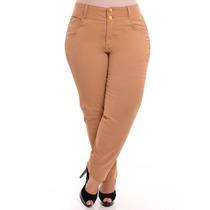 Calça Jeans C/ Lycra Feminina Colorida Plus Size