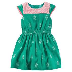 Vestido Carters Verde Para Niña - Envio Incluido