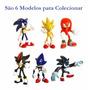 1 Unid Cápsula Surpresa Boneco Sonic Hedgehog *6 Modelos Dif