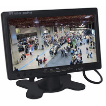 Monitor Lcd 7 Polegas 2 Entradas De Video Com Controle