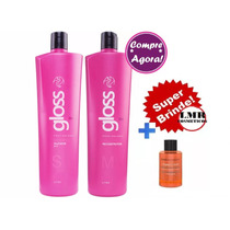 Fox Gloss Escova Progressiva Inteligente 2 X 1 Litro +brinde
