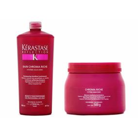 Kit Kerastase Reflection Chroma Riche Shampoo1l+masque 500g