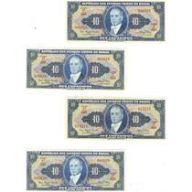 Cédula Dinheiro Antigo, 10 Cruzeiros, C-019, Getúlio Vargas