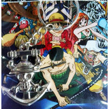 Llavero Anime One Piece Luffy Ancla Metal En Blister