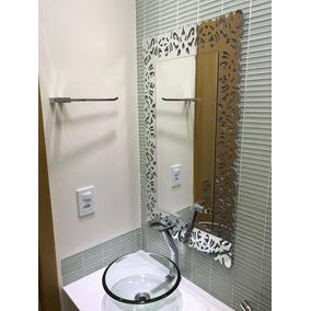 Espelho Bisote Decorado Para Banheiro