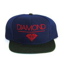 Boné Snapback Diamond Supply Co Azul Marinho Verde
