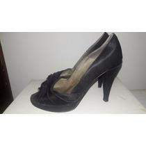 Zapatos Stilletos Tela Negros Talle 35 - No Paruolo