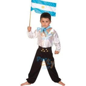 Disfraz Gaucho Nene Fiestas Patrias Super Económico L 4-5