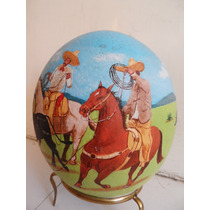 Pintura Taurina ,charra En Huevo De Avestruz