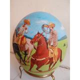 Pintura Taurina ,charra En Huevo De Avestruz Charreria