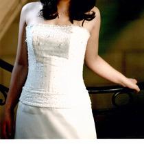 Vestido 15 Organza Blanca C/ Swarovsky- Teresa Bary C/ Funda